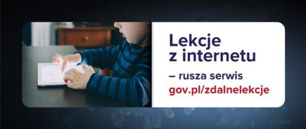 Lekcje z internetu – rusza serwis gov.pl/zdalnelekcje