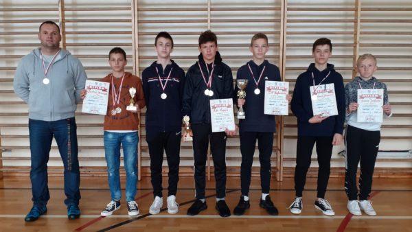 Chłopcy z Rytwian Mistrzami Województwa w Czwórboju Lekkoatletycznym